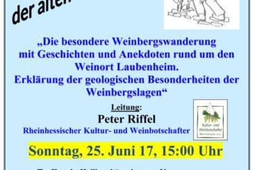"""""""Auf den Spuren der alten Wingertsleit"""""""