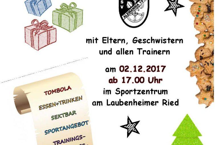Weihnachtsfeier Alemannia Fußballjugend